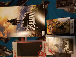 Nintendo switch red and blue with game and extras