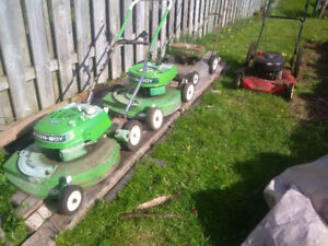 3 lawn boy lawn mowers, for parts or repair