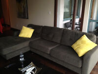 Charcoal Grey Couch in almost new condition!!!