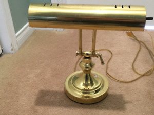 Solid Brass Bankers Desk Lamp