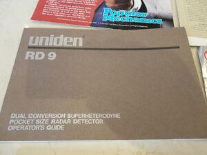 Variety of Vintage Radar Detector Sales Brochures & Owner Manual Kitchener / Waterloo Kitchener Area image 5