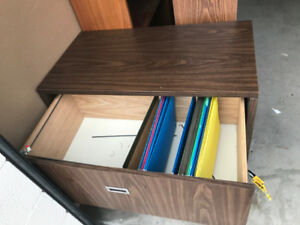 2 High Lateral Wooden Filing Cabinet, Excellent Condition!