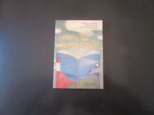 BOOK - LEARN TO REMEMBER - REDUCED!!!!