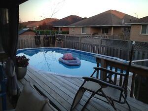 12X24 OVAL POOL ABOVE GROUND
