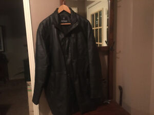 Men's real leather jacket size large