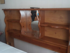 BOOKCASE HEADBOARD with  Steel ROL AWAY BED FRAME