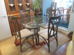 Glass Top Contemporary Dining Sets