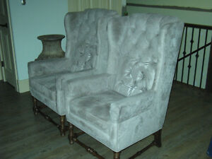 Matching Wing Back Chairs