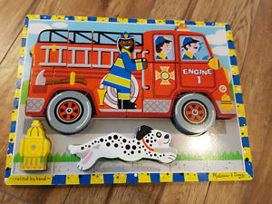 Melissa and Doug - Firetruck Wooden Puzzle