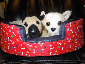 Build A Bear Plush Dog Bed- 2 free dog stuffies & Dog Collar