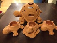 Party lite clay candle holders