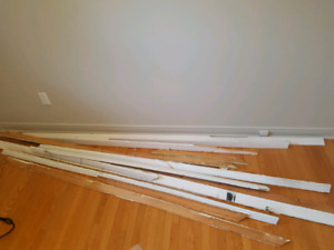 Free baseboards with nails still in it