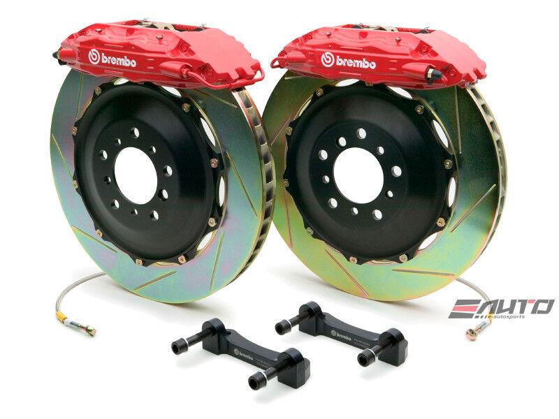 Brembo Front Gt Brake 4piston Caliper Red 332x32 Slot Disc Rx7 Rx-7 Fd3s 93-95
