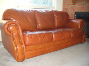 "Classic 100% ""Buffalo"" leather Sofa Set, Paid over $6700, Delive"