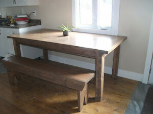 SOLD SOLD SOLD !near new harvest type table and bench seat