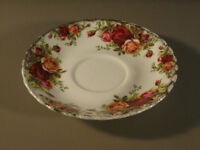 Royal Albert Old Country Roses Early Bacckstamp Saucer China
