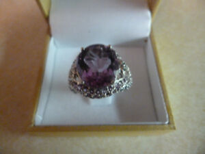 New Amethyst and Diamond Dress Ring