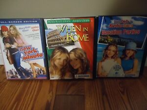 3 Mary Kate & Ashley DVDs