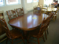 Table and chair sets, good variety. Starting at $249.