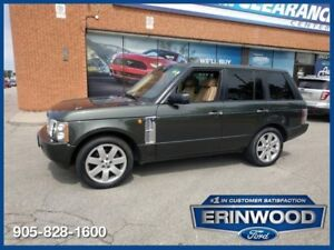 "2005 Land Rover Range Rover HSEAWD / NAVI / ROOF / LTHR / 20"" WH"