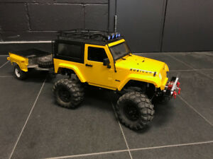 Rock crawler Jeep + trailer