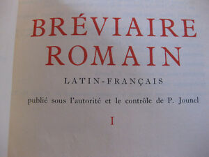 BREVIERE ROMAIN  LATIN FRANCAIS 2 TOMES West Island Greater Montréal image 3