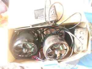 Sound system for a motorcycle,  boat, atv