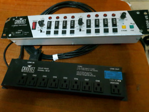 Chauvet 8 channel light controller with relay pack