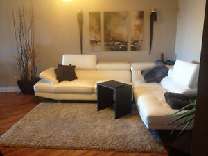 White Bonded Leather Couch