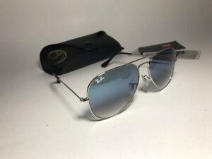 Ray-Ban Aviator Silver Frame Gradient lens