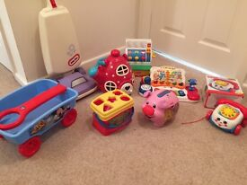 Large bundle of toddler toys mostly fisherprice