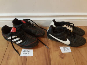 Soccer shoes  runners cleats Adidas size 1