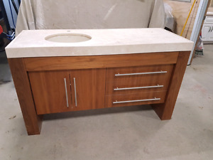 "60"" wall to wall vanity"