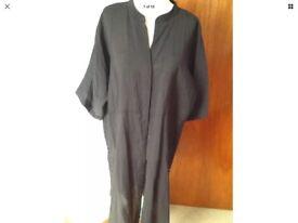 H&M Very Long Oversized long Black Shirt/jacket