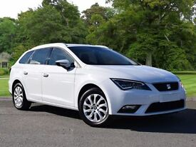 SEAT Leon 1.6 TDI CR SE (Tech Pack) ST 5dr (start/stop) (white) 2016