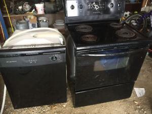 Frigidaire stove and dishwasher