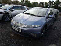 HONDA CIVIC 2.2 CDTI 2008 BREAKING 5 DOOR MODEL FOR SPARES PLEASE CALL BEFORE YOU COME