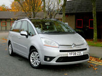 2008 08 Citroen GRAND C4 PICASSO 1.6 HDi 16v VTR+ 5dr WITH FSH+7 SEATS+ALLOYS+AC