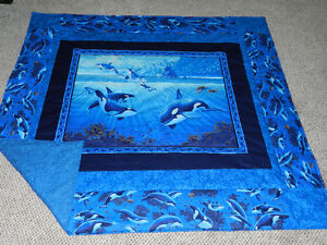 for sale a New Dolphin Quilt/Throw
