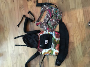 Ergo baby carrier with pouch and covers