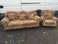 Arthur Llewellyn Jenkins Large 3 seater and 1 Chair