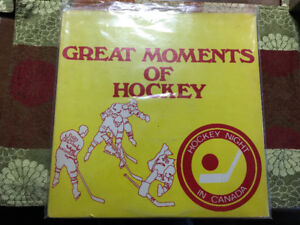 "VINTAGE HOCKEY NIGHT IN CANADA HNIC ""GREAT MOMENTS OF HOCKEY"" LP"