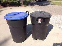 Brand new garbage & recycling bins
