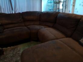 Harveys Brown Senator chaise sofa
