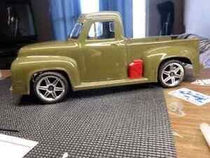 Red cat lightning  road car  with 55 ford body  like new