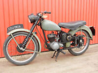 BSA BANTAM D1 125cc 1961 - RUNS & RIDES IDEAL LEARNER LEGAL RIDER