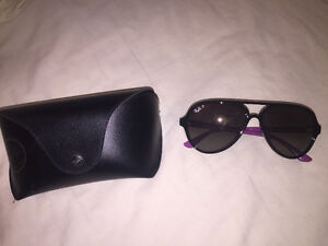Ray-Ban Cats 5000 Classic Black - hot pink sides