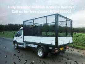FULLY LICENSED RUBBISH & HOUSE CLEARANCE-BUILDER WASTE-JUNK REMOVAL-GARAGE-GARDEN-OFFICE-SCRAP METAL
