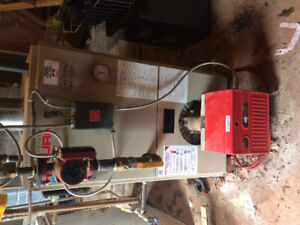 Saturn hot water oil fired boiler and accessories