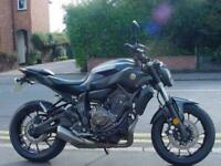 Yamaha MT-07 ABS low miles, sporty naked
